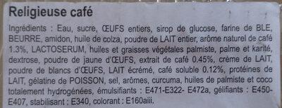 religieuse au café - Ingrédients - fr