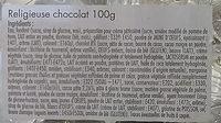 Religieuse au chocolat décongelée X 2 - Ingredients