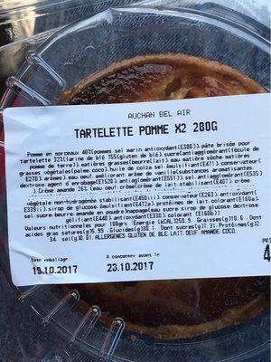 Tartelette aux Pommes - Informations nutritionnelles