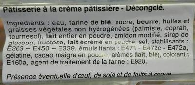 Millefeuille - Ingrédients - fr