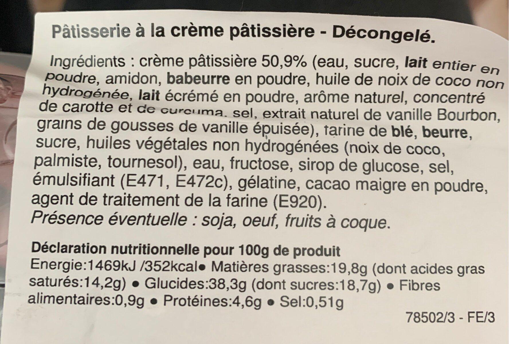 Millefeuille - Informations nutritionnelles - fr