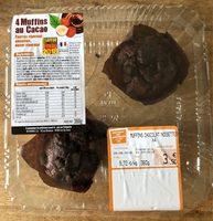 4 muffins au cacao - Produit