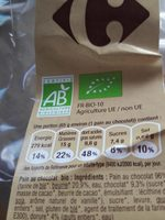 Pains au chocolat BIO - Ingrédients