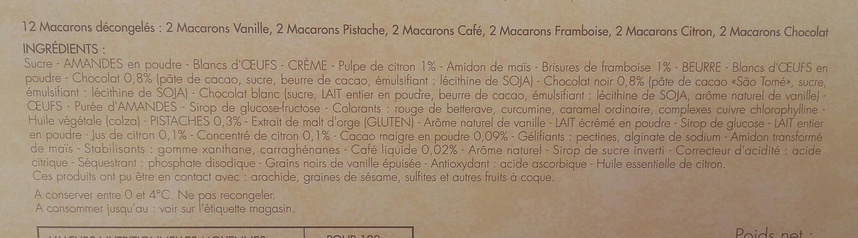 Mini macarons - Ingrédients