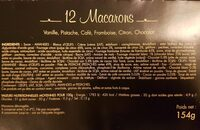 Macarons - Nutrition facts