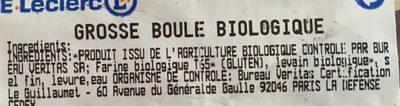 Grosse boule biologique - Ingrédients - fr