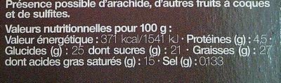Pyramide Décongelé *2 Croustillant Chocolat - Nutrition facts