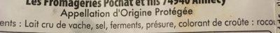 Reblochon fermier AOP - Ingredients - fr