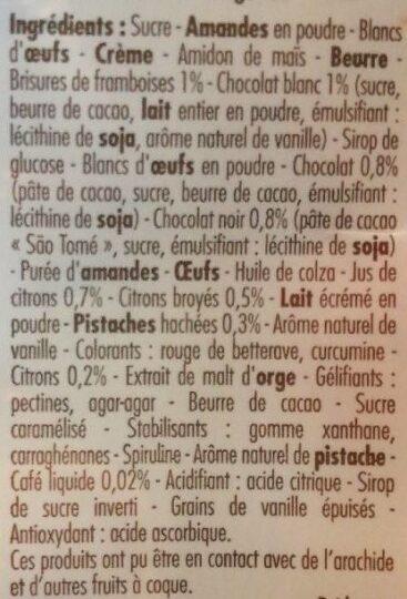 Assortiment de 36 macarons sucrés - Ingrédients