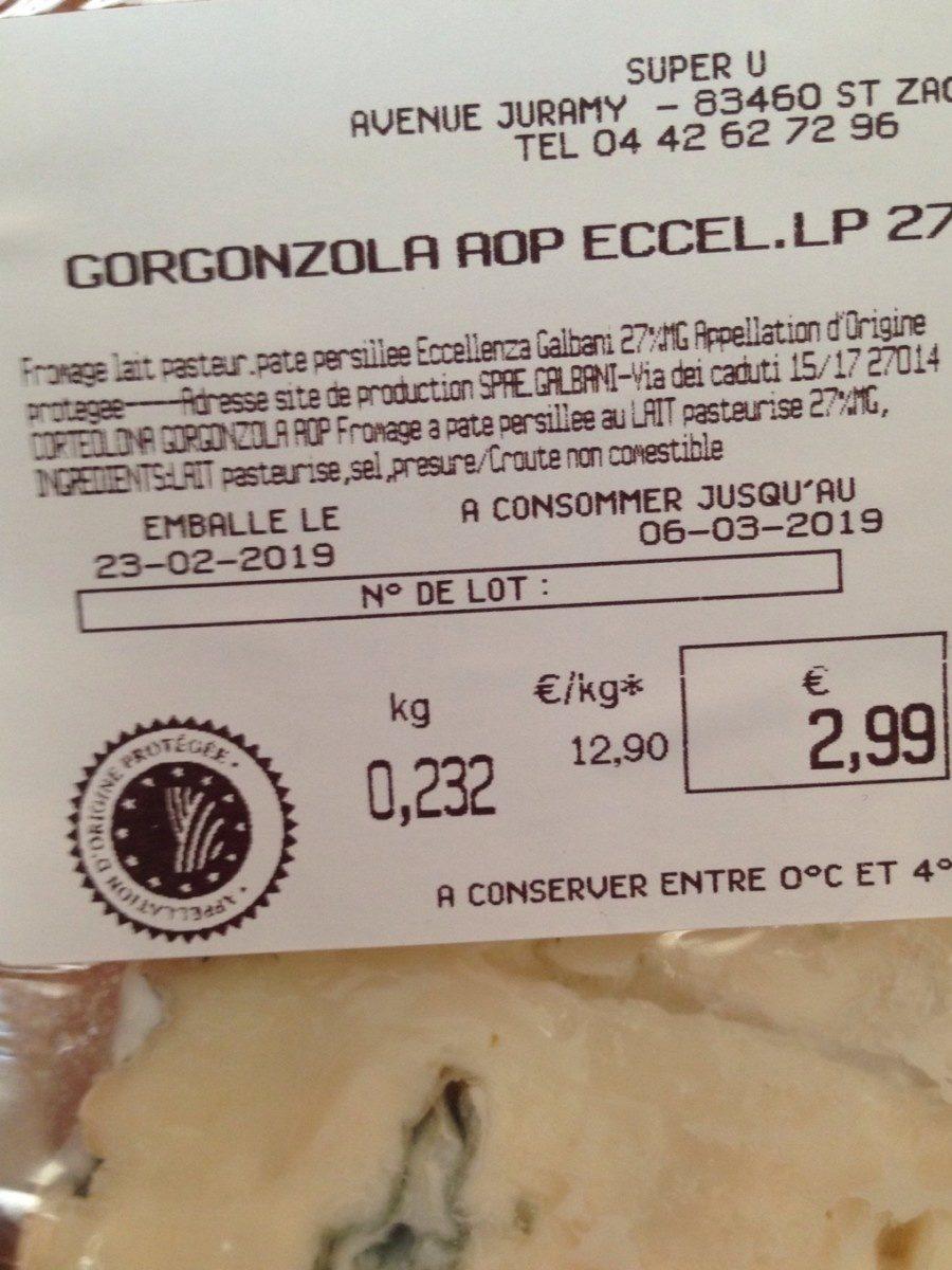 Gorgonzola - Ingredients