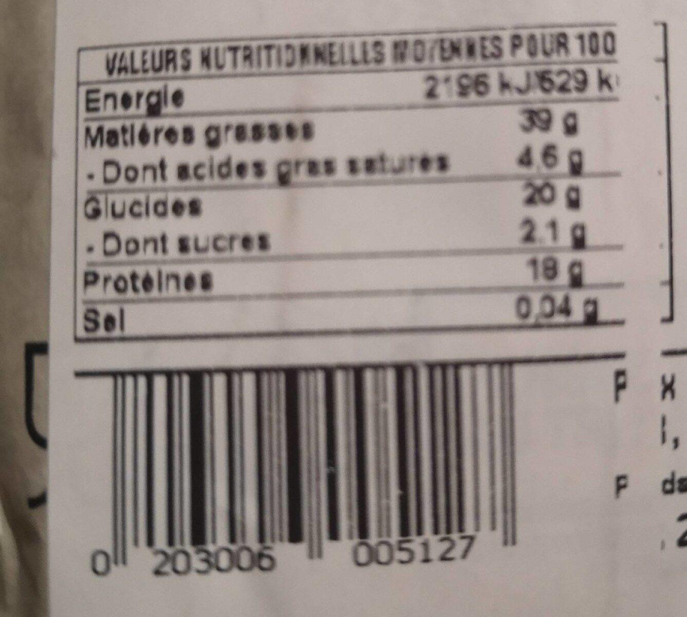 Tradigraines - Valori nutrizionali - fr