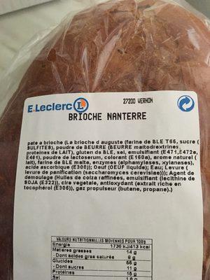 Brioche nanterre - Ingrédients