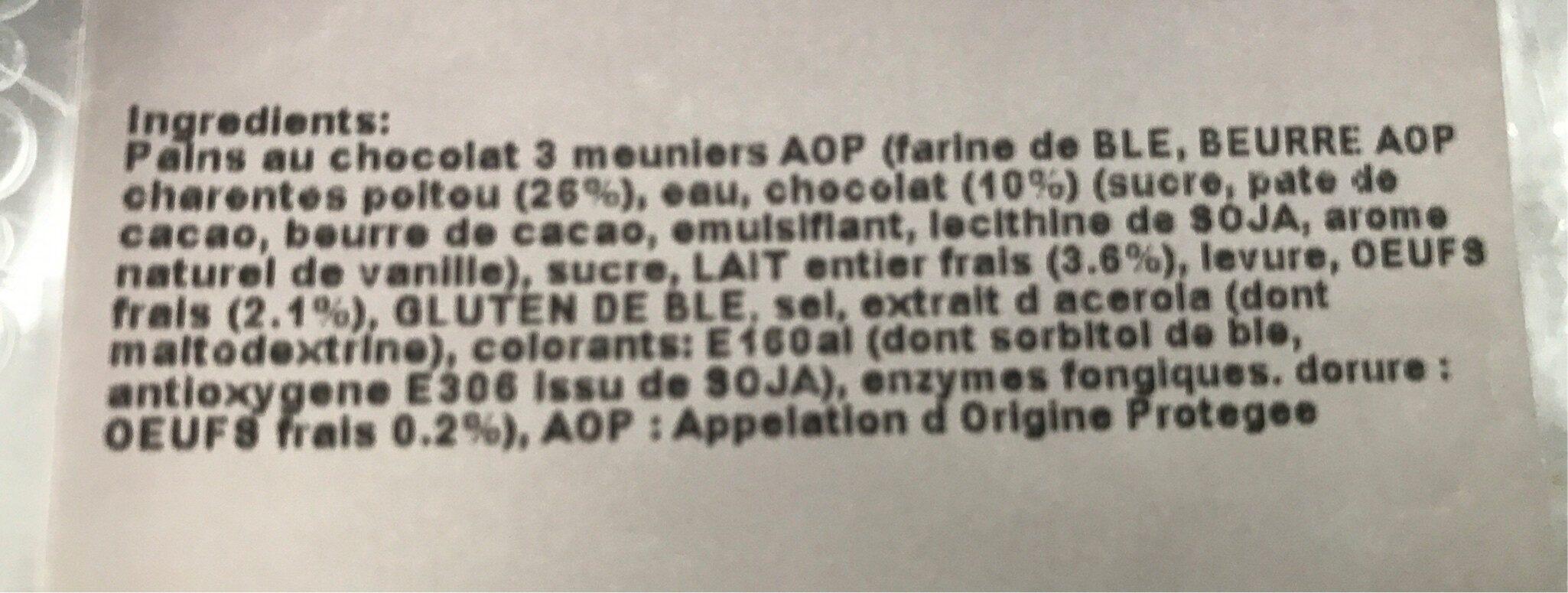 Pain au chocolat lecler - Ingredients - fr