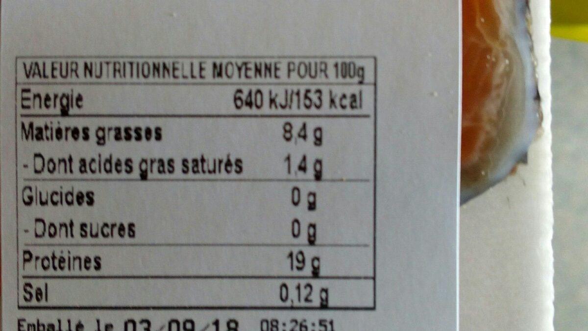 Filet de truite pare des Pyrénées - Ingrédients