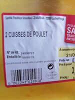 2 cuisses de poulet - Produit