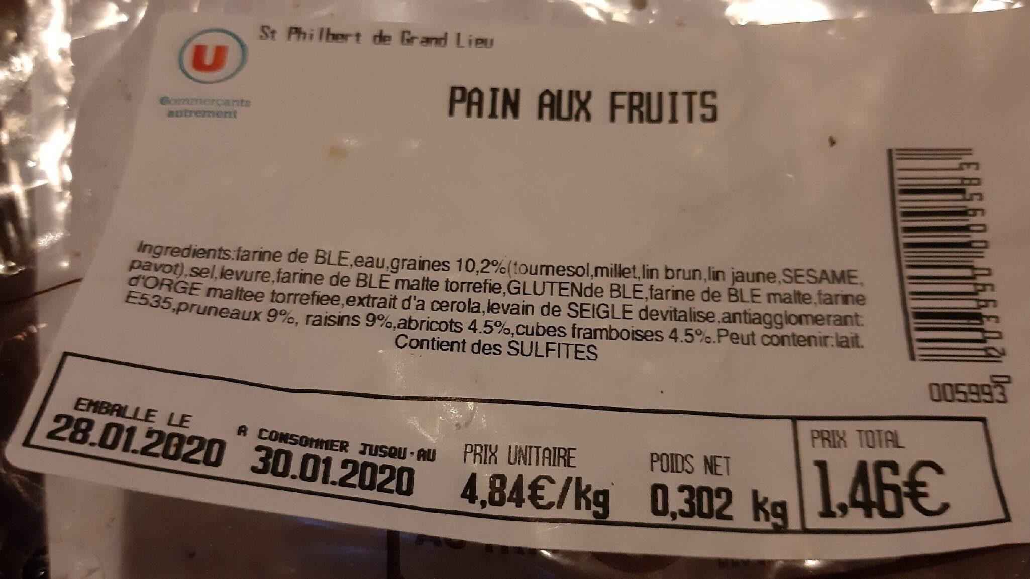 Pain aux fruits - Produit - fr
