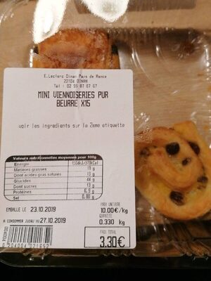 Mini viennoiseries pur beurre - Produit - fr