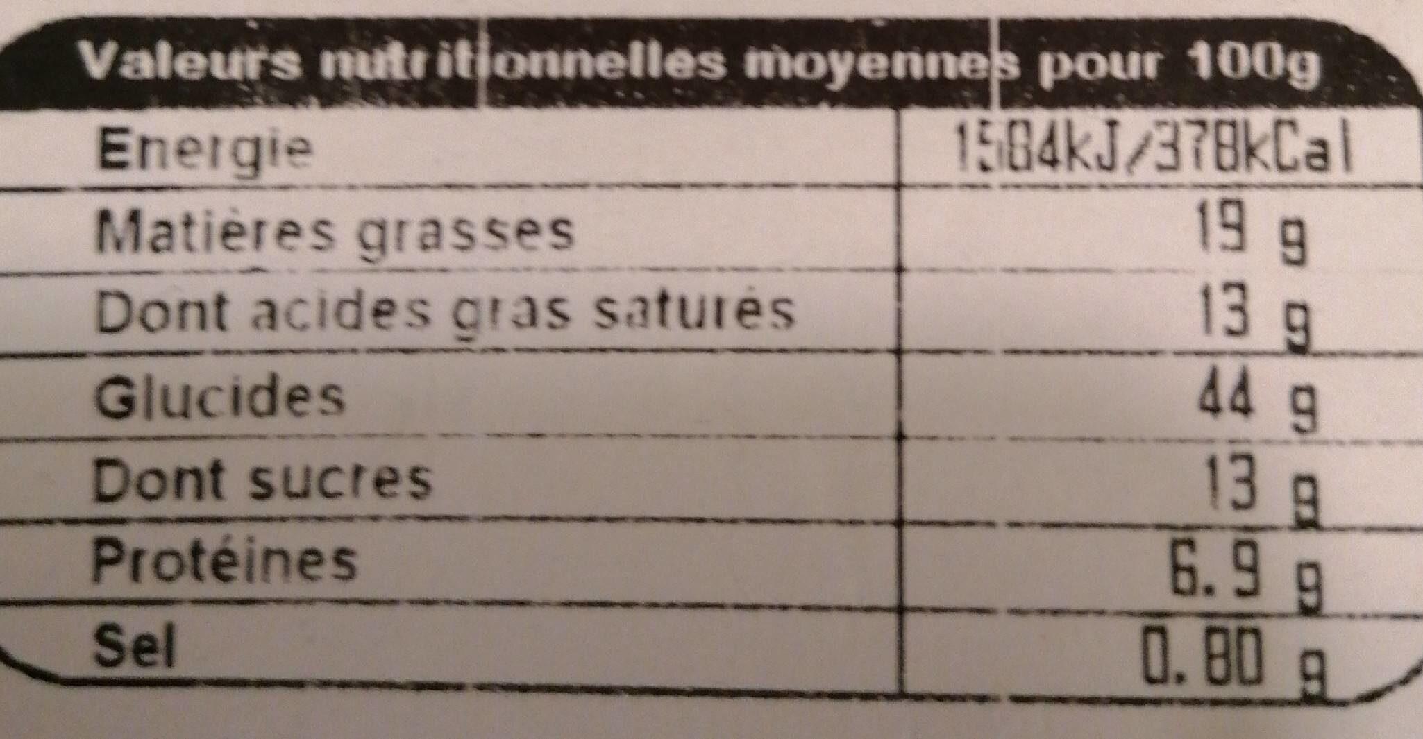 Mini viennoiseries pur beurre - Informations nutritionnelles - fr