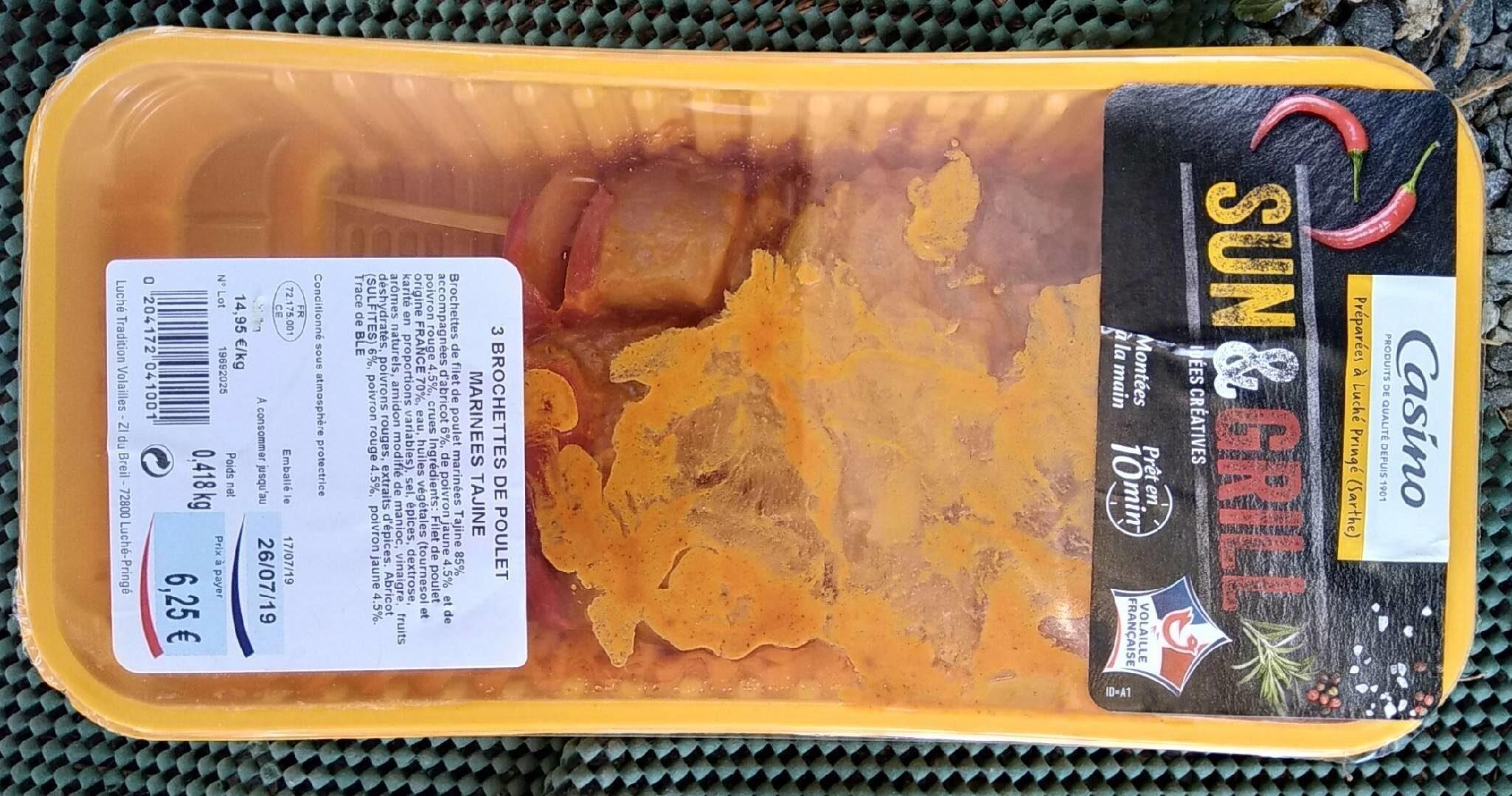 Brochettes de poulet marinées Tajine - Produit