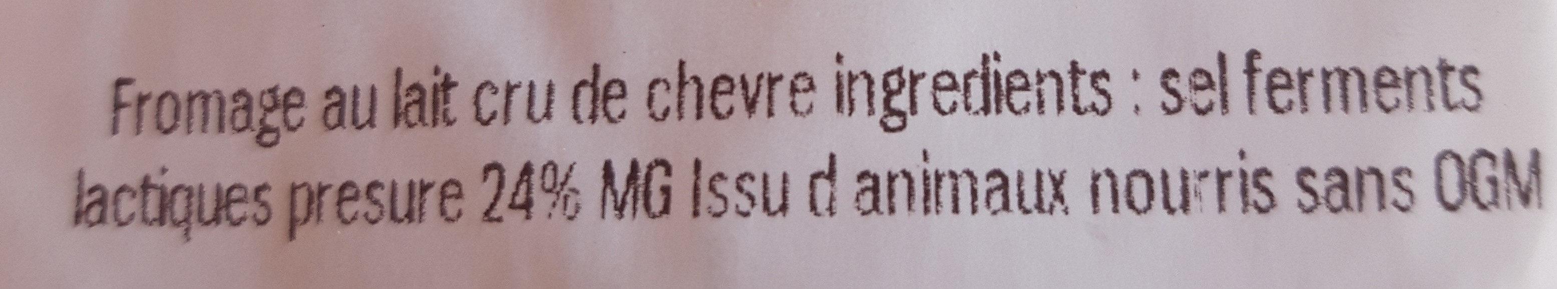 Le CHEVROT - Ingredients
