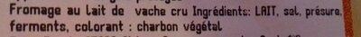 Morbier appellation d'origine contrôlée - Ingredients - fr