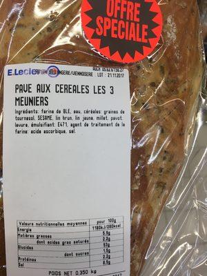 Pavé aux céréales - Ingrédients - fr