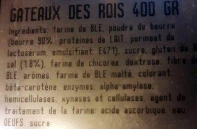 Gâteau des rois 400g - Ingredients