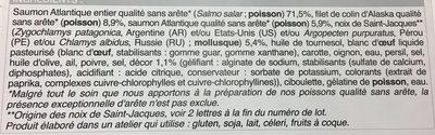 Saumon Farci - Ingrédients - fr