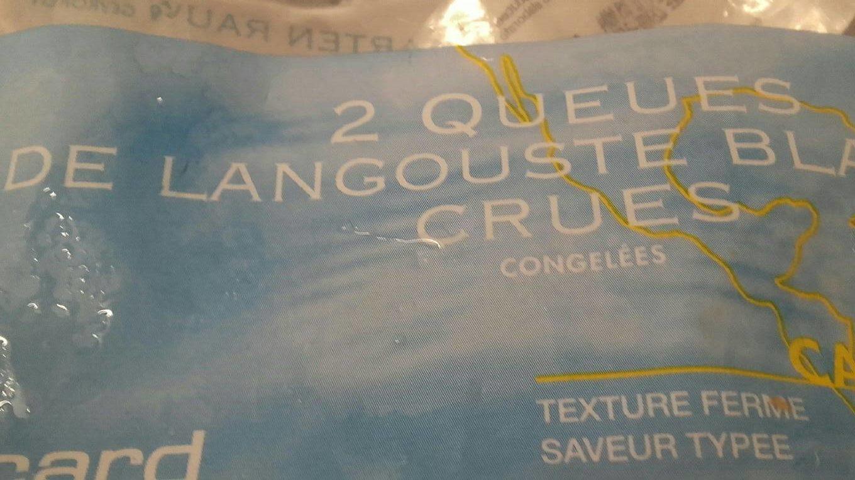2 Queues de Langouste Blanche Crues - Product - fr