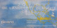 2 Queues de Langouste blanche crues - Produit - fr