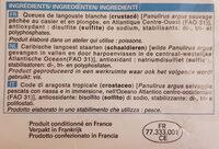 2 Queues de Langouste blanche crues - Ingrédients - fr