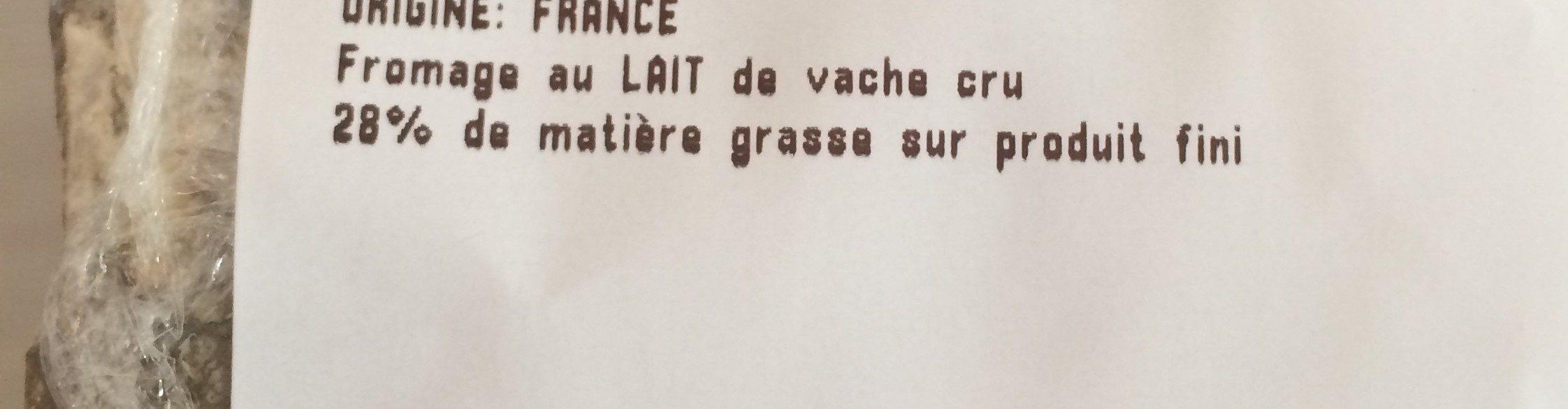 Tommette de yenne - Ingrediënten - fr