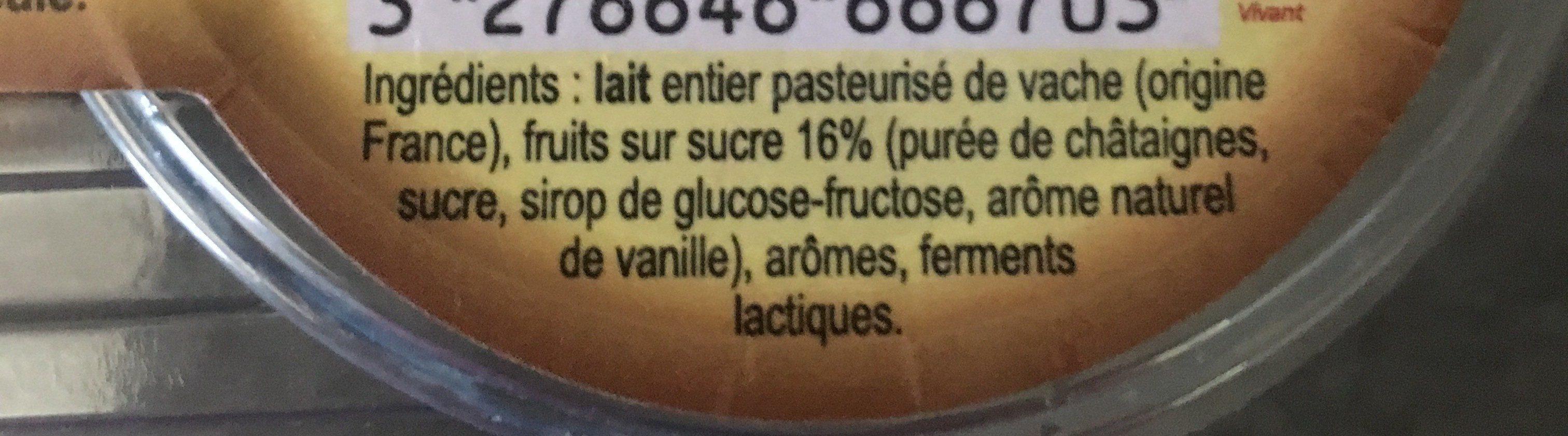 Yaourts des hautes-alpes - Ingrediënten - fr