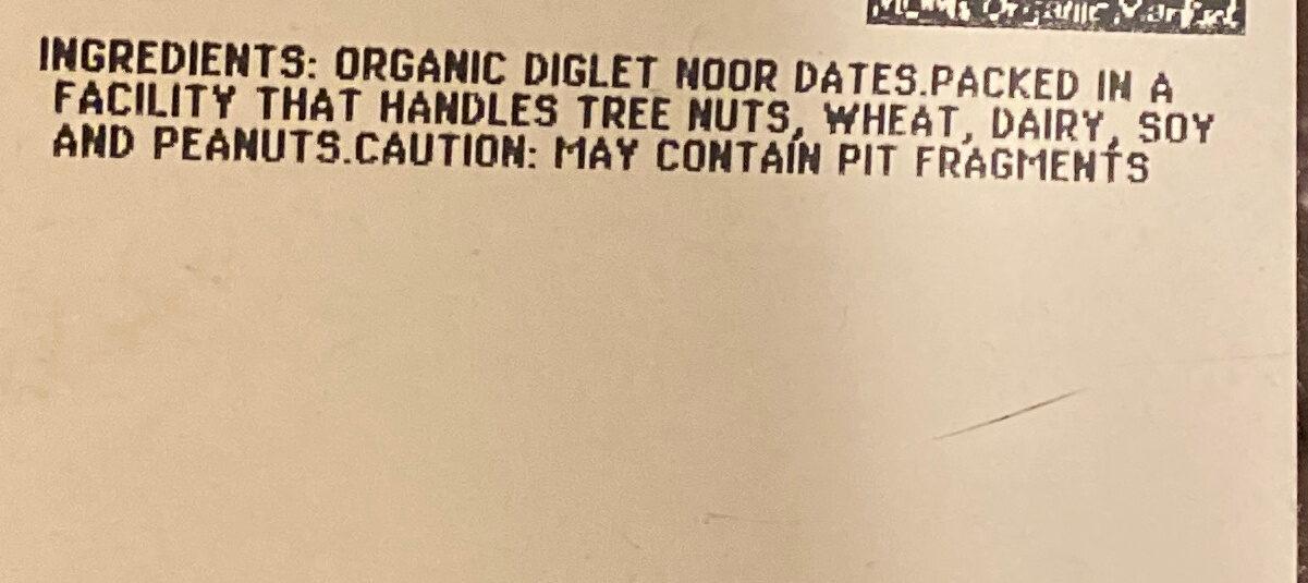 Pitted Deglet Dates OG - Ingredients - en