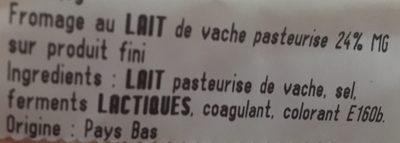 Mimolette Kroon Jeune - Ingredients