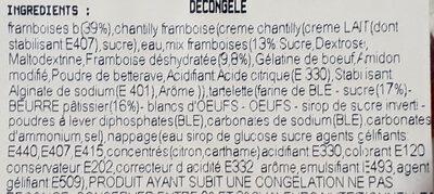 Tartelettes framboises - Ingredients - fr