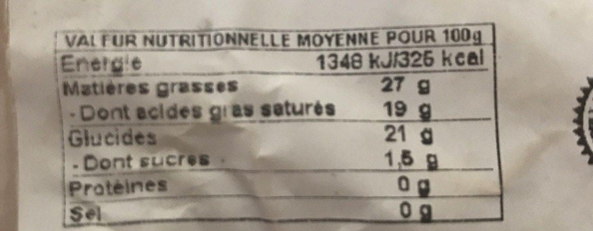 Munster fermier au lait cru - Ingrediënten - fr