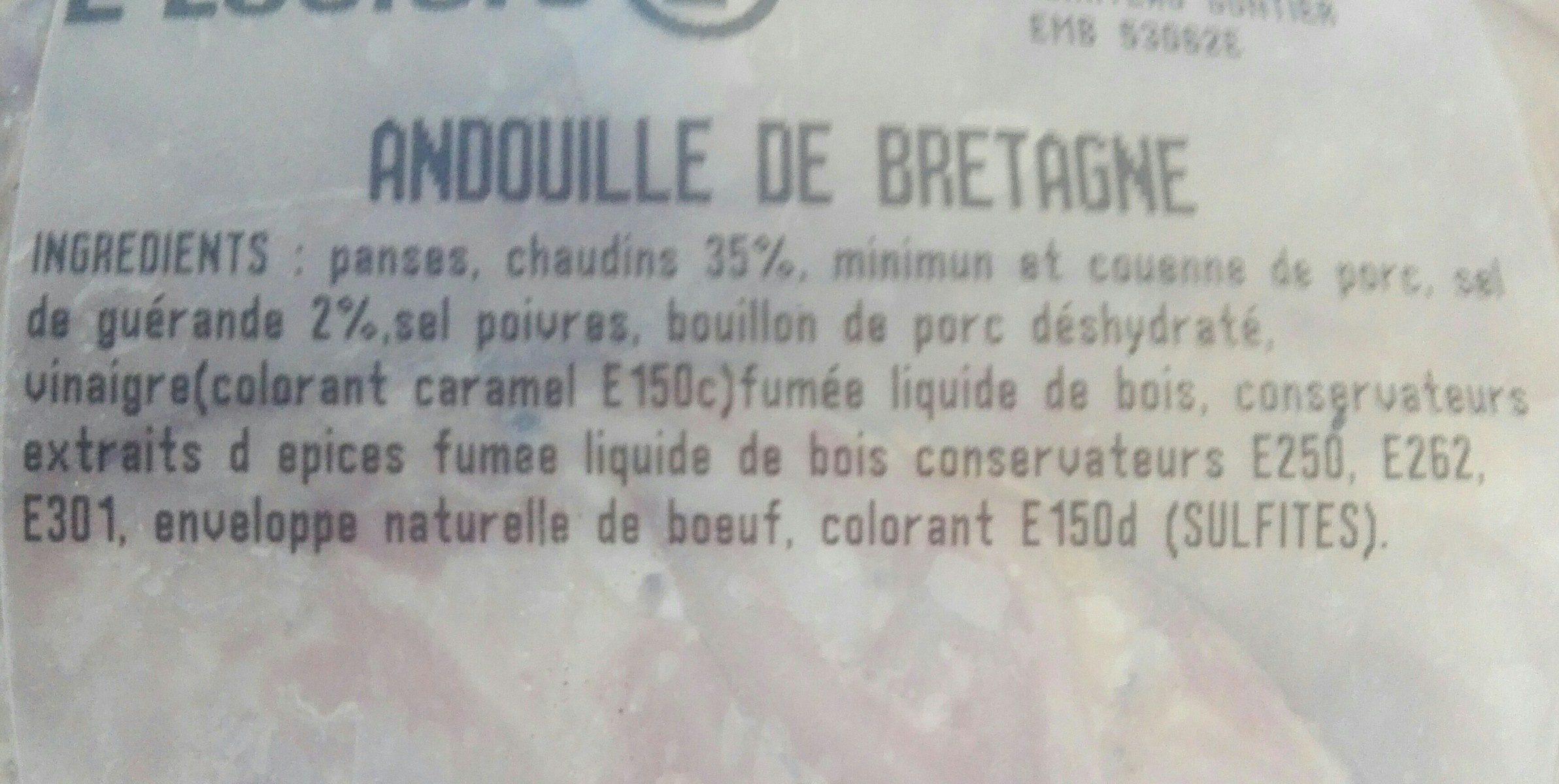 Andouille de bretagne - Ingredienti - fr