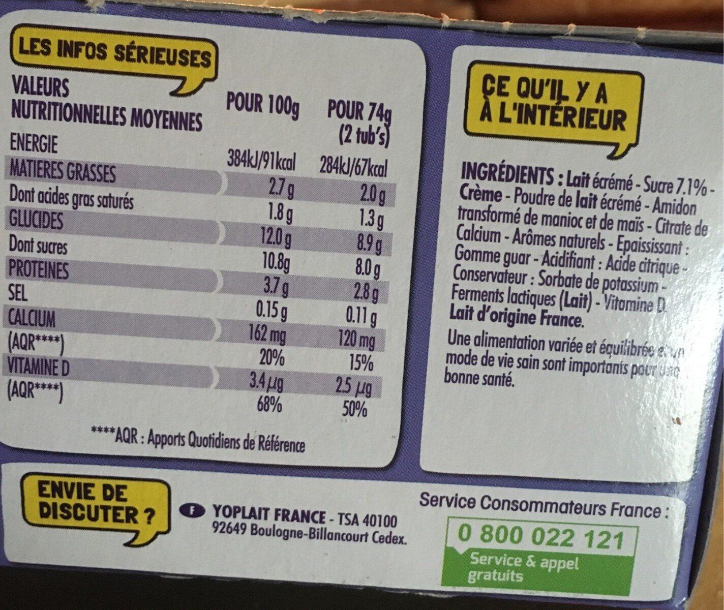 Petits Filous - Informations nutritionnelles - fr
