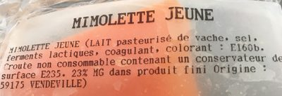 Mimolette jeune - Ingredients