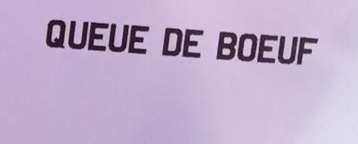 Queues de bœuf - Ingrédients - fr