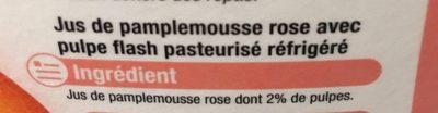 100% pur jus pamplemousse - Ingrediënten