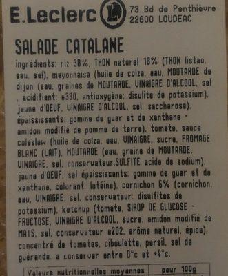 Salade catalane - Ingredients - fr