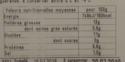 Salade catalane - Nutrition facts