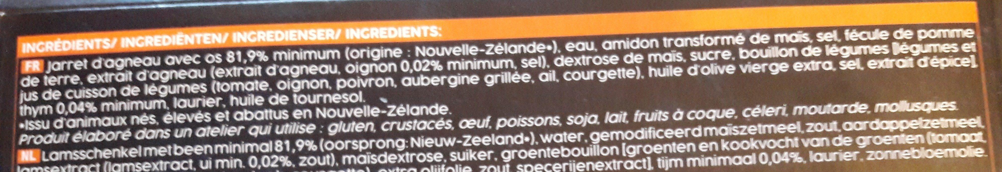 Souris d'agneau cuite dans son jus au thym - Ingrediënten - fr