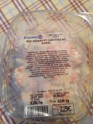Duo Ananas et Carottes au Surimi - Produit - fr
