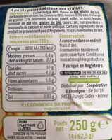 Muffins aux graines - Informations nutritionnelles - fr