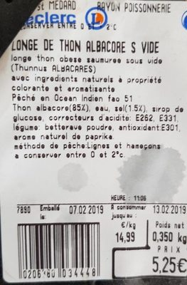 Longe de thon albacore sous vide - Product