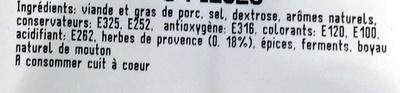saucisses aux herbes - Ingrédients
