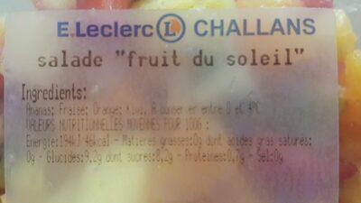 """Salade """"fruit du soleil"""" - Ingrédients - fr"""